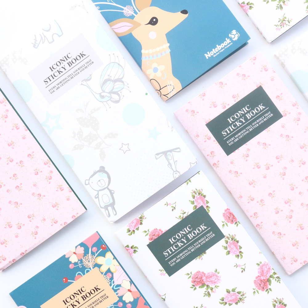 Domikee new cute cartoon school student sticky note pad stationery,fine candy portable memo pad index label book