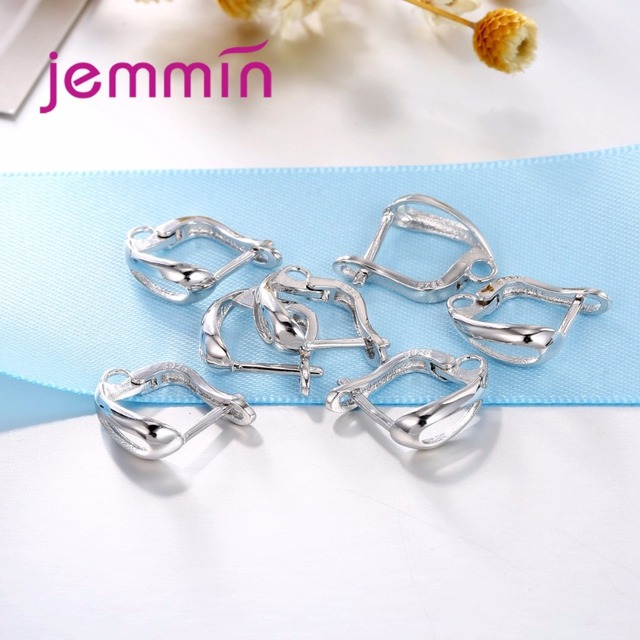 Jemmin Factory Price  Simple Style DIY Jewelry Accessories 925 Sterling Silver Hoop Earrings For Women Girls Party Jewelry