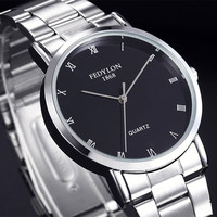 Fedylon Quartz Watch Men Top Brand Luxury Stainless Steel Business Watches Simple Classic Mens Wrist Watches