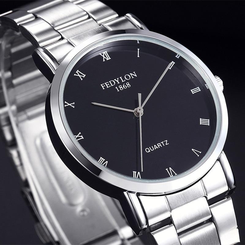 Fedylon cuarț ceas bărbați Top Brand de lux din oțel inoxidabil - Ceasuri bărbați