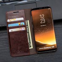 Case For S8 Plus Musubo Luxury Leather Flip Cover for Samsung Galaxy Note 8 S7 edge S6 edge Plus S5 S4 S3 Cases Wallet phone bag