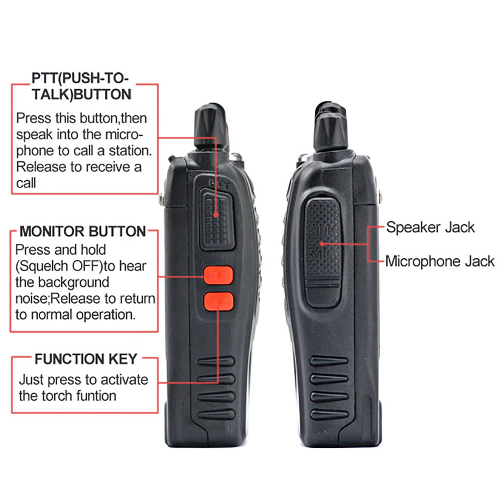2 PCS 4 PCS Baofeng BF-888S Walkie Talkie Handheld Pofung 888s UHF 5W 400-470MHz 16CH Two Way Portable Scan Monitor Ham Radio