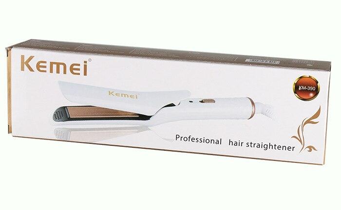 Купить с кэшбэком KEMEI Professional Hair Straightener Hair Curler Electric Splint Steam Curling Iron Hair Straightening escova rotativa KM-390