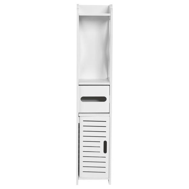 Simple Design Bathroom Cabinet Cupboard Toilet Furniture Storage Shelf Tissue Storage Rack Bathroom Supplies 80*15.5*15.5CM New