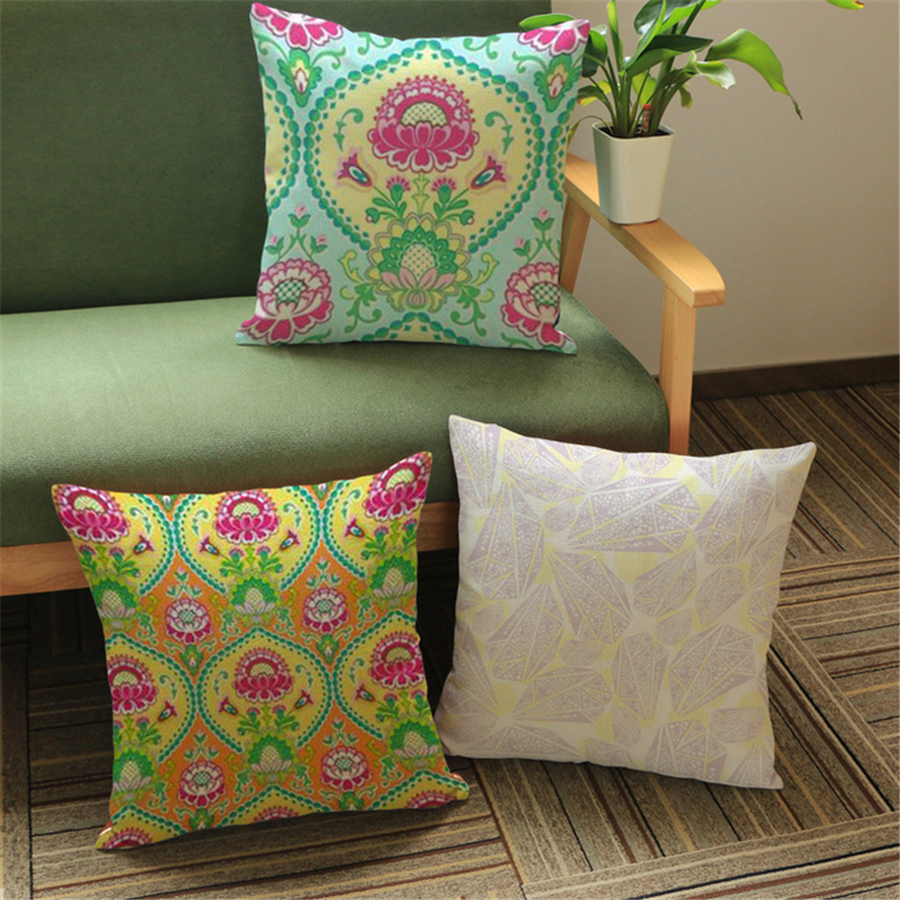 Plant Floral Ethnic Cushion Cover Vintage Home Decor ...