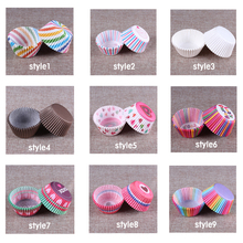 White Cupcake Paper Cases 100pcs Muffin Cups Forms For Cupcakes Bakeware Cake Tools