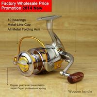2014 New EF 10BB Fishing Spinning Reel With Metal Spool Good Painting Retrieval Ratio 5 5