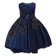 купить AmzBarley Baby Girls Formal Dress kids Flower Lace Wedding Party Tutu Dresses Princess Ball gown Children Summer Clothing по цене 1529.28 рублей