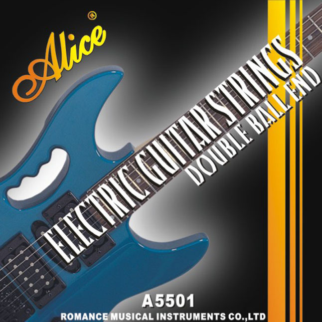 Alice Electric Guitar Strings Coated Steel Steel Core Nickel Alloy Wound Double Ball End Electric Guitar Strings d addario daddario exl110 american made nickel wound electric guitar strings regular light 10 46