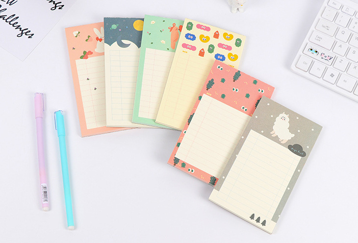 Fresh Forest animal Memo Pad Sticky Notes Check List Paper Sticker Post It Notepad Gift Stationery Escolar Papelaria