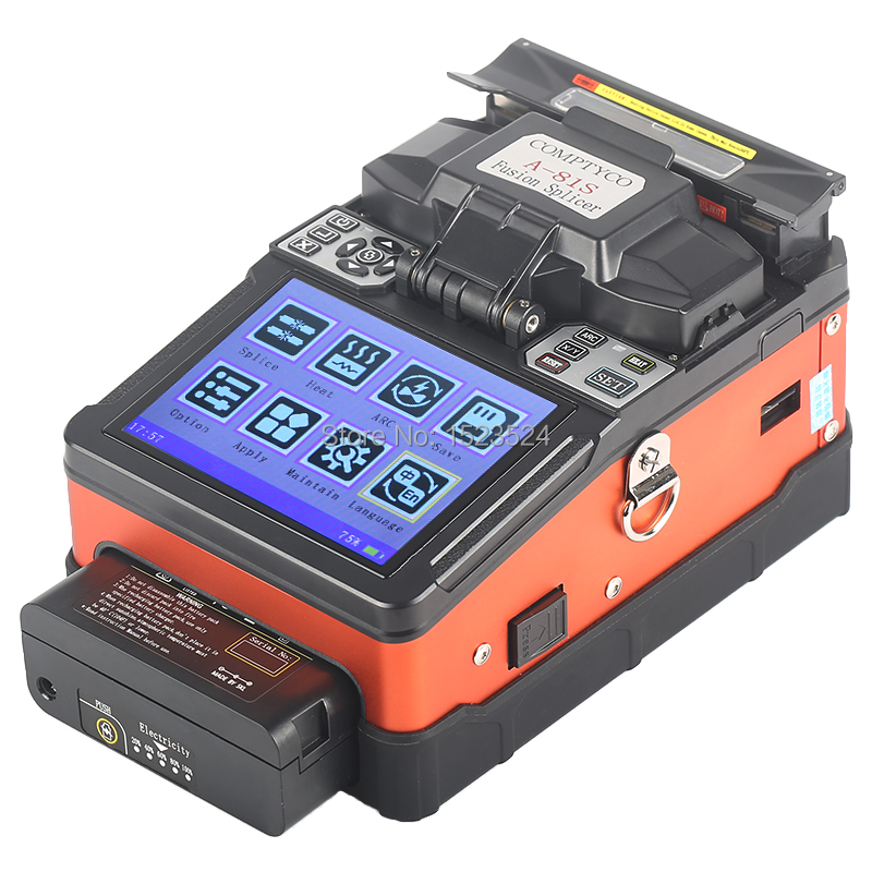 Free Shipping A-81S Orange SM&MM Automatic Fusion Splicer Machine Fiber Optic Fusion Splicer Fiber Optic Splicing Machine