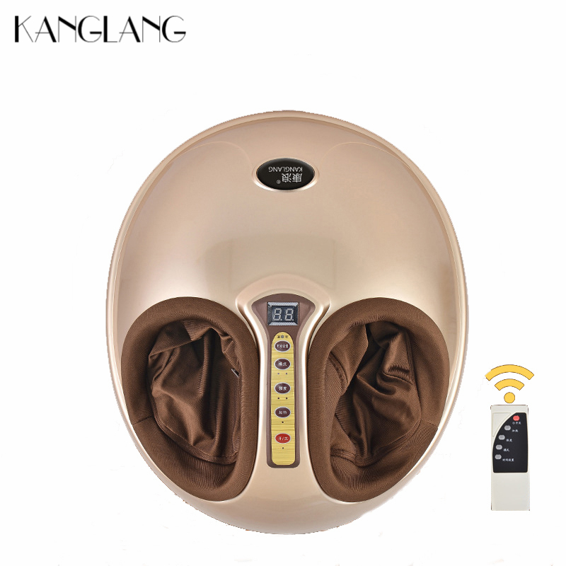 KANGLANG Electric Vibrator Foot Massager Health Care Massage Infrared Heating Therapy Shiatsu Kneading Air Pressure Machine 220V health care infrared heating therapy foot massage machines foot sole blood circulation stimulation electric foot massager
