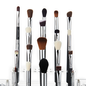 Image 2 - Jessup Juego de brochas de maquillaje, 19 Uds., negro/plateado, herramientas cosméticas, brocha de maquillaje, delineador de ojos, Lápiz corrector labial