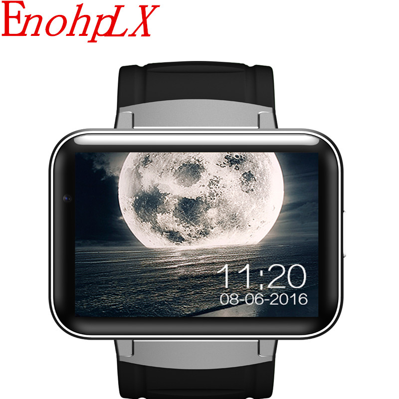 EnohpLX DM98 GPS 3G Smart Watch Android With SIM Card Pedometer Sports Tracker Smartwatch Phone 900mAh Wifi BT4.0 Wristwatch Men dm98 3g smart watch phone black
