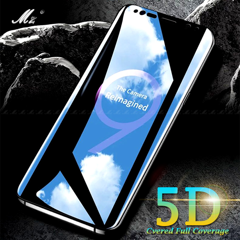 5D Curved S9 Plus Case Screen Protector Film For Samsung Galaxy S8 A8 plus 2018 S7edge S6edge A3 A5 A7 J3 J5 J7 2017 Note8 Glass ...