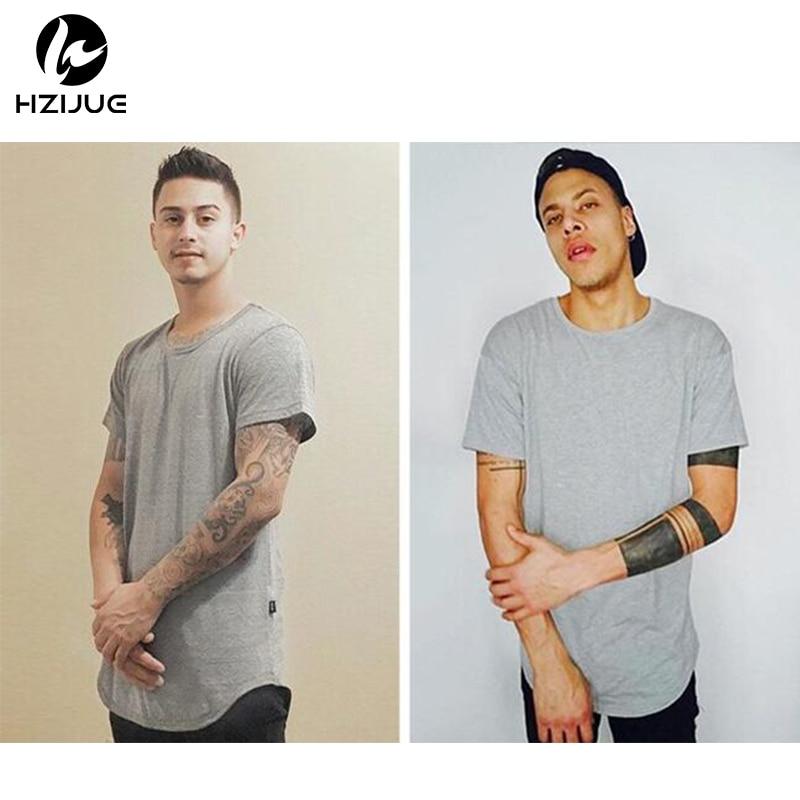 HZIJUE mode Männer t-shirt männer erweiterte Swag Hip Hop T-Shirt - Herrenbekleidung