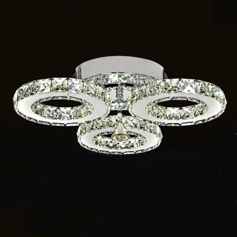 Modern 3 ring Lustre chandelier Led Crystal Chandelier Lighting Ceiling Chandeliers Light Living room lights Bedroom