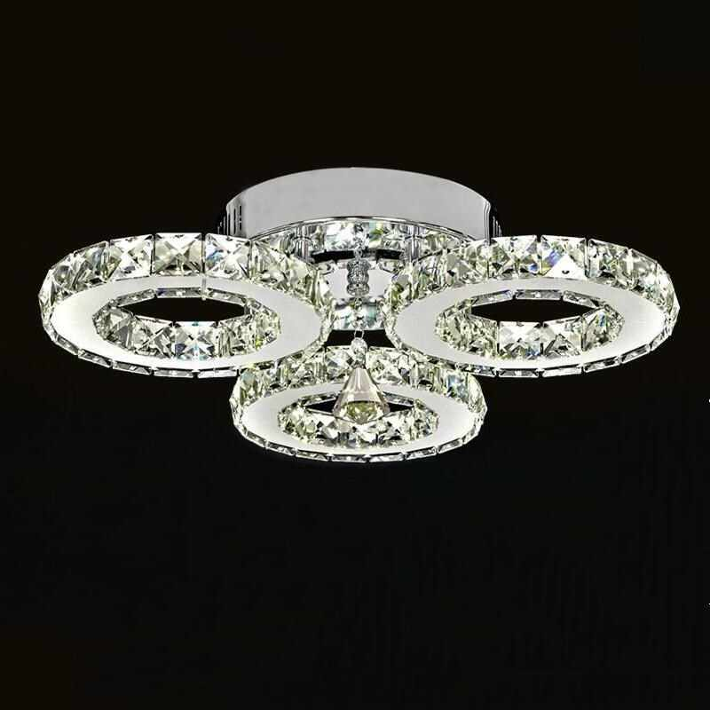 Modern 3 ring Lustre chandelier Led Crystal Chandelier Lighting Ceiling Chandeliers Light Living room lights Bedroom lights
