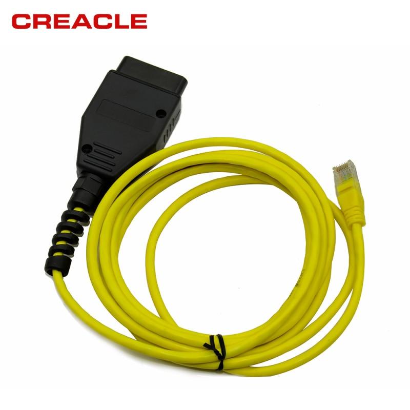 Кабель для передачи данных ESYS 3.23.4 v50.2 для bmw ENET Ethernet к OBD OBDII, интерфейсный кабель для ICOM, кодирующий кабель для F-serie NEW