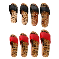 1 Pair Sandal Reflex Massage Natural Stone Foot Healthy Massager Shoes Slippers New Fashion Sandals Foot