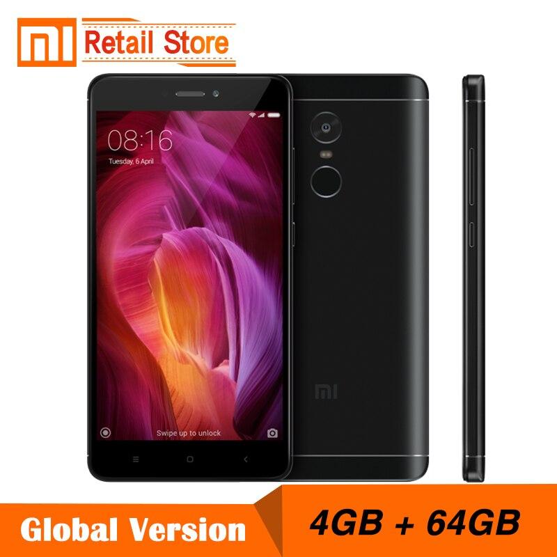 """Глобальная версия Xiaomi Redmi Note 4 Snapdragon 625 Octa core Процессор мобильный телефон 4 ГБ Оперативная память 64 ГБ Встроенная память 5.5 """"FHD 13.0MP 4100 мАч группа B4"""