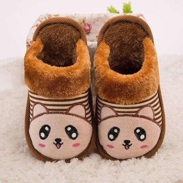 new style 9f1b8 a100c US $12.58  Inverno Bambini Pantofole Animale Stampato Scarpe Bambino  Pistoni Dell'interno Scaldino Bambini Comode Pantofole Cute Cartoon Casa ...