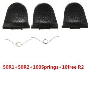 Image 1 - 50 Sets L2 R2 Trigger Knop Met 100 Stuks Springs Vervanging Voor Sony PS4 Playstation 4 Dualshock Controller Gamepad + 10 Gratis R2