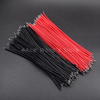 100 pcs Breadboard Jumper Cable Draden Ingeblikt 24AWG/26AWG 10 cm Black & Rode draad|Draden & Kabels|Licht & verlichting -