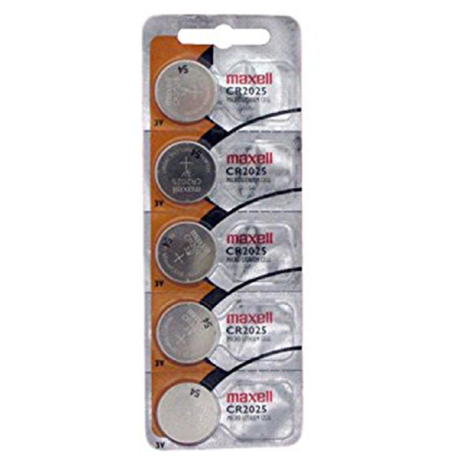 Pilas De Boton Maxell Bateria Original Litio CR2025 3V En Blister 2X Unidades
