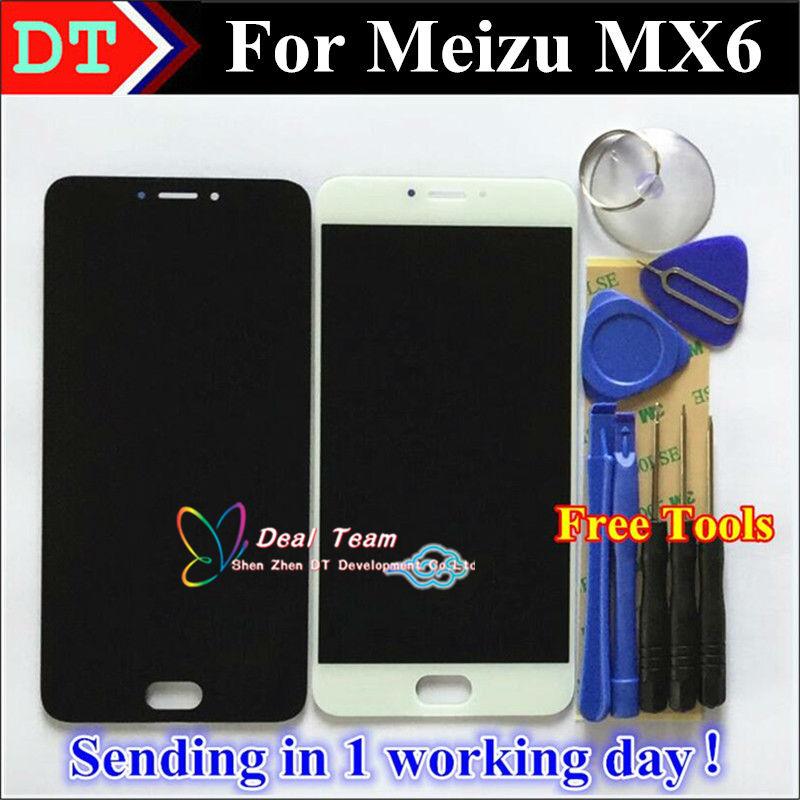 """Prix pour Meilleure Qualité Nouveau LCD Display + Digitizer Écran Tactile Assemblée Pour Meizu MX6 Intelligent Téléphone Portable 5.5 """"Noir Blanc Couleur"""