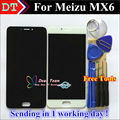 """Melhor qualidade novo display lcd + digitador assembléia tela de toque para meizu mx6 inteligente celular 5.5 """"preto cor branco"""