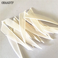 50Pcs White Shield Cut 3inch Vane Arrow Feather Bow and  Wood Fiberglass Carbon Shooting Outdoor Accessories