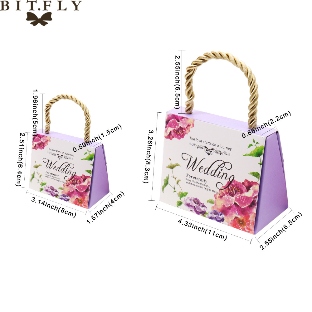 50pcs Wedding Event Favors Gift Bags Butterfly Flower romantic Candy ...