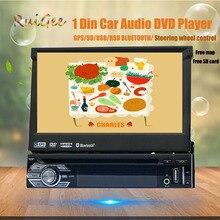 """$ Number """"Universal 1 Din Reproductor de DVD Audio Del Coche + Radio + uno din Navegación GPS + Autoradio + Stereo + Bluetooth + PC + Automotivo DVD + RDS USB SD Aux"""