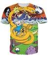 Mulheres Homens T-Shirt Fin Jake Adventure Time Lumpy Espaço Princesa the Ice Rei Marceline o Vampiro Rainha camiseta Caráter tees