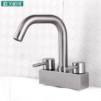 Assemble bathroom mixer double handle faucet hot and cold water