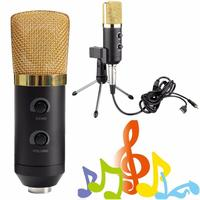 LEORY USB Karaoke Condenser Microphone Mic With Stand Holder Sound Studio Record Microphones For Laptop Computer
