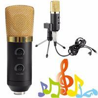 Leory USB караоке конденсаторный микрофон с подставкой держатель Sound студии записи микрофоны для портативных компьютеров PC КТВ пение