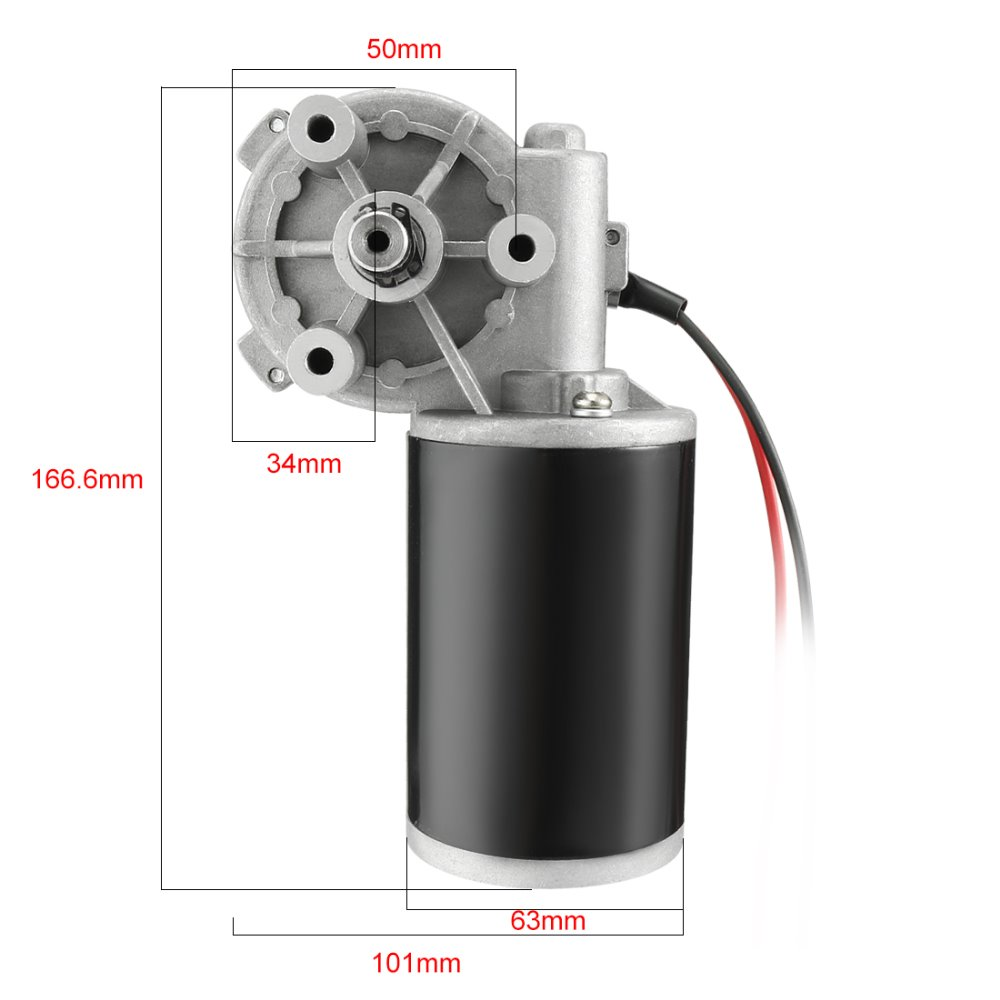 UXCELL JCF63R DC 220V 80W High Torque Reversible Electric Gear Motor 400RPM High Quantity Hot Sale