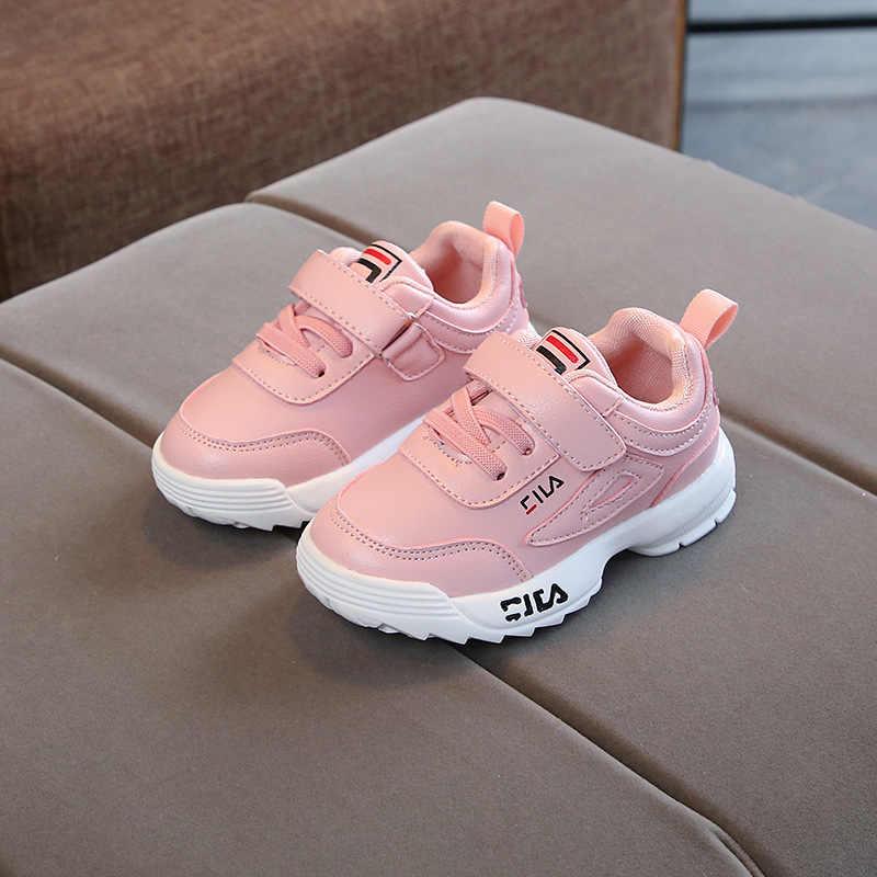 9bf101287 ... 2018 весна осень новая детская обувь для мальчиков и девочек белые  кроссовки Дети Спортивная дышащая обувь ...