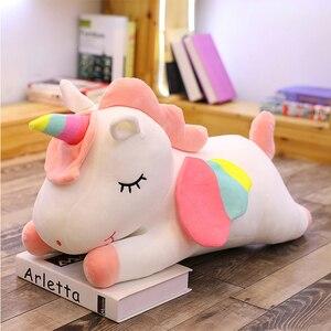 Image 3 - Western ตำนาน PUSHEEN Big Plush Unicorn ตุ๊กตาตุ๊กตาของเล่นตุ๊กตาตุ๊กตา Unicorn ปีกหมอนนุ่มสาววันเกิดของขวัญ Licorne