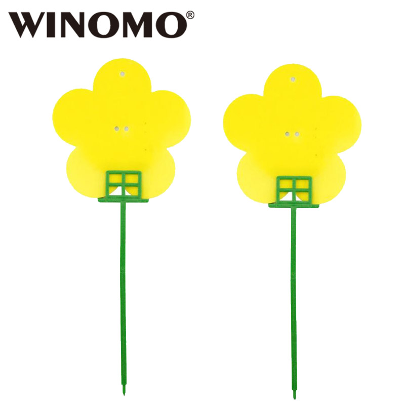 WINOMO 12pcs Dual Sided Glue Insect Sticky Catcher Bug Fly And Gnat Trap Pest Controlling Board