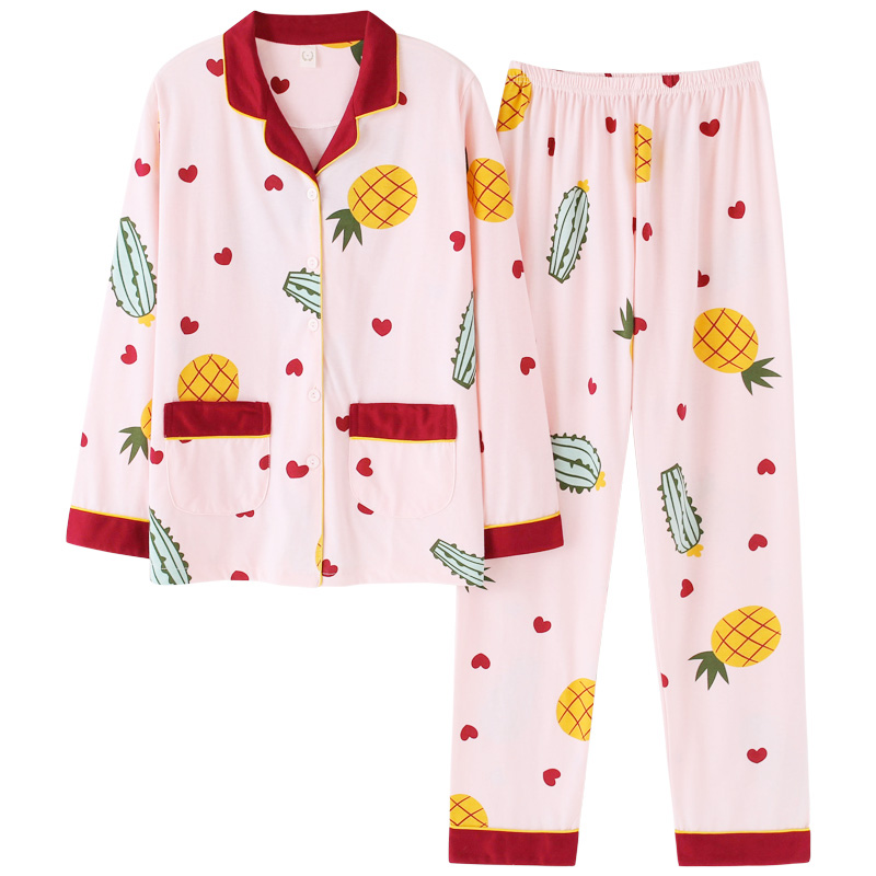 Women Home Clothes   Pajamas     Set   2019 Autumn Sleepwear   Pajama   Turn-down Lounge Bedgown Mujer Nightgown   Pajama   Nightshirt