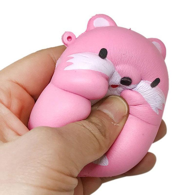 Mochi Kawaii Cute Squishy Fun I-Bloom Pom Pom Hamster Mouse Rising Toy Relieve Gift Anti Stress Toys