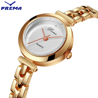 PREMA Quartz Clock Bracelet Watch Women Brand Watches Women Fashion Casual Water Resistant Lady Watches 2017