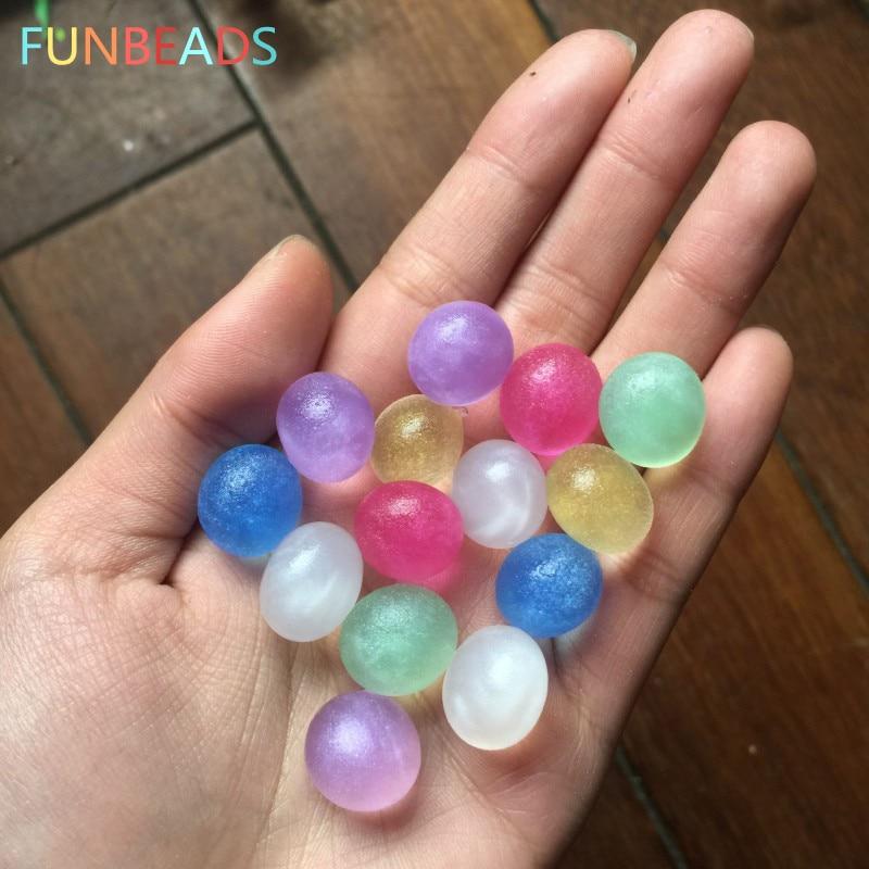 50g / tétel 3-3.5mm Gyöngyös fényű kristály talaj hidrogél gél víz gyöngyök Sár növekvő vízgolyók esküvői lakberendezés FGX
