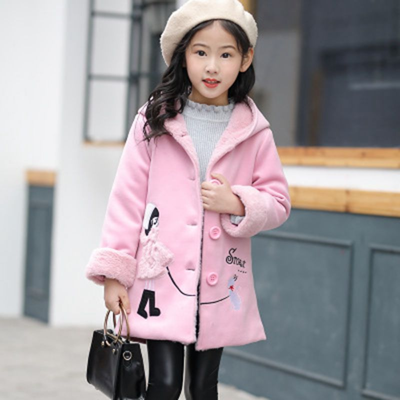 new selection new selection shop for newest US $41.19 |Baby Jackets Wool Coats Girls Children's Autumn winter outerwear  Knitted little girl pattern fashion long down Coats For Kids-in Wool & ...