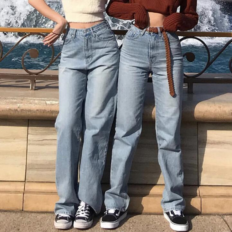 Baggy Jeans Denim Brand Korean Mom Jeans High Waist Vintage Boyfriend Jeans For Women Pants Wide Leg Fashion Loose Trousers Lady