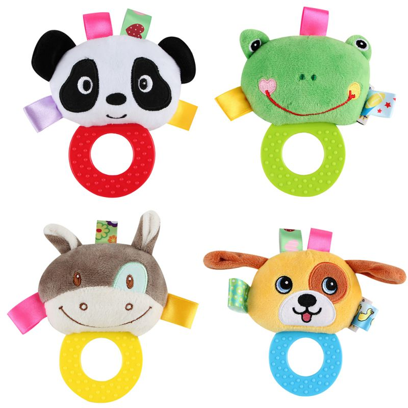 Baby Lathe Hanging Ring Animal Rattle Crib Hanging Baby Stroller Hanging Toys Teethers Stuffed Doll Baby Rattles & Mobiles