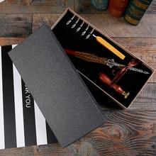 Купить Античный перо Dip чернила набор канцелярских товаров в подарочной коробке с сургучом набор